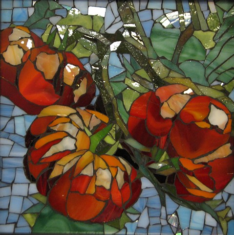 Stained Glass Mosaic Heirloom Tomatos