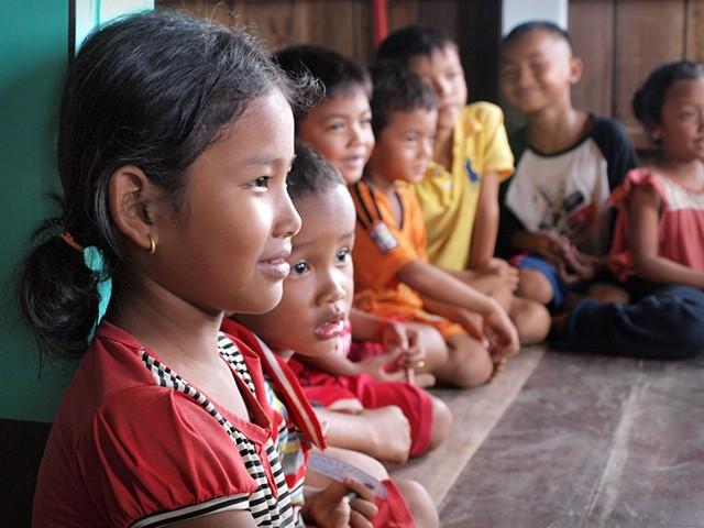 Khmer girl in classroom