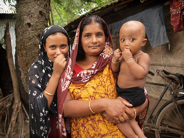 Village women with baby