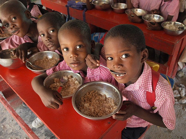 Haiti Christian school feeding program, Haitian schoolchildren, Haitian pupil