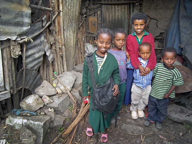 Children of the slums