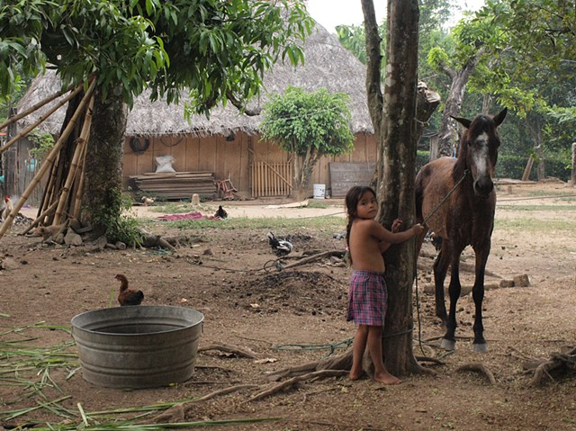 Chinanteco girl with horse