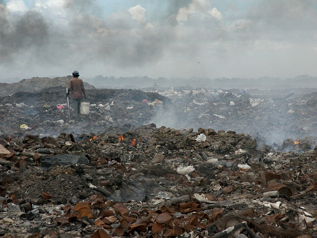 Through the fiery dump