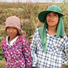 Two Khmer workers