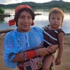 Kuna mother with child San Blas Islands
