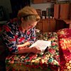 Slavka reading her Bible
