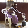 Making attaya (tea)