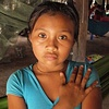 Kuna girl by hammock San Blas Islands