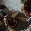 Missionary doctor making spinal adjustment - Mbakhe