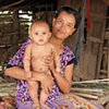 Khmer mother with child