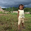 Kuna girl before impending storm Darien Jungle