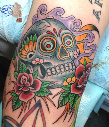 Sugar Skull in the ditch