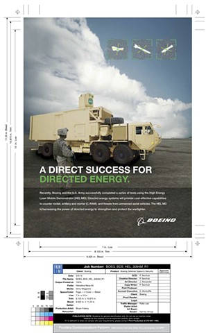 Boeing Ad Frontline Communications Extend image for bleed, darken areas for reverse type. Create final mechanical.