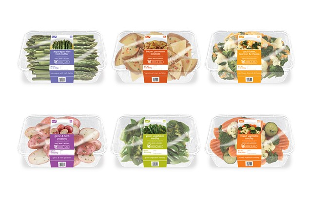 Value Vegetables Packaging Renders