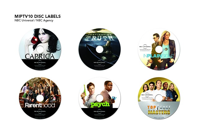 NBC Agency MIPTV10 Disc Labels