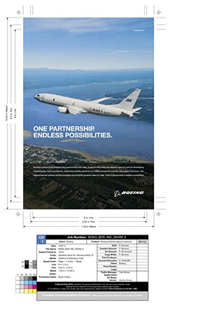 Boeing Ad Frontline Communications Extend image - ground and sky. Create final mechanical