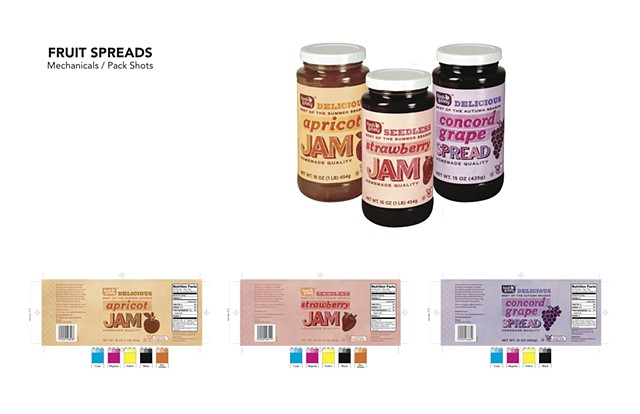 FRUIT SPREADS Mechanicals / Product Shots