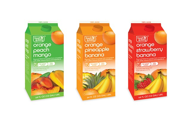Fruit Juice Carton Renders