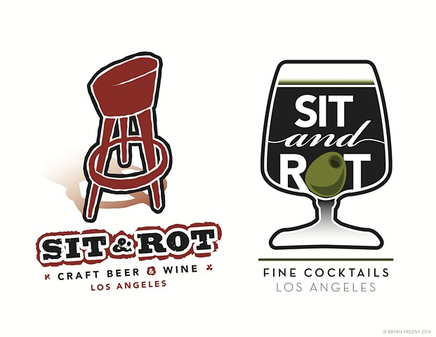 Identity / Logo projects 2014 Sit and Rot (Craft Beer & Wine) (Fine Cocktails)