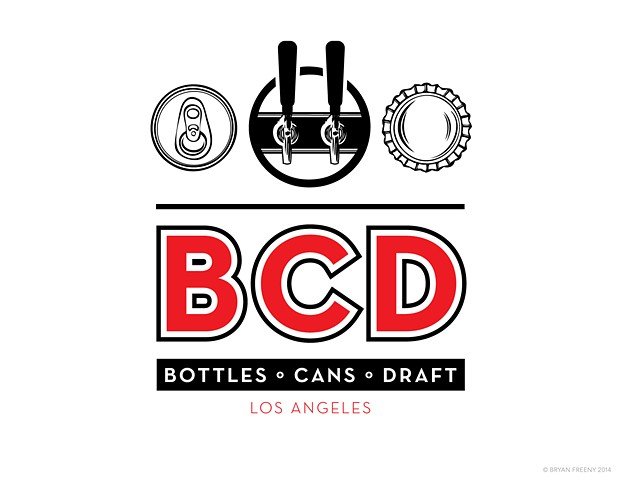Identity / Logo Projects 2014 BCD (Bottles • Cans • Draft) Work-up 1