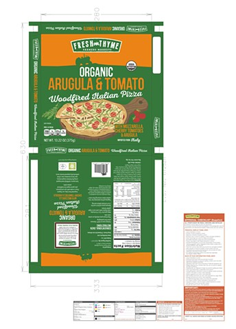 Fresh Thyme Organic Woodfired Pizza Range