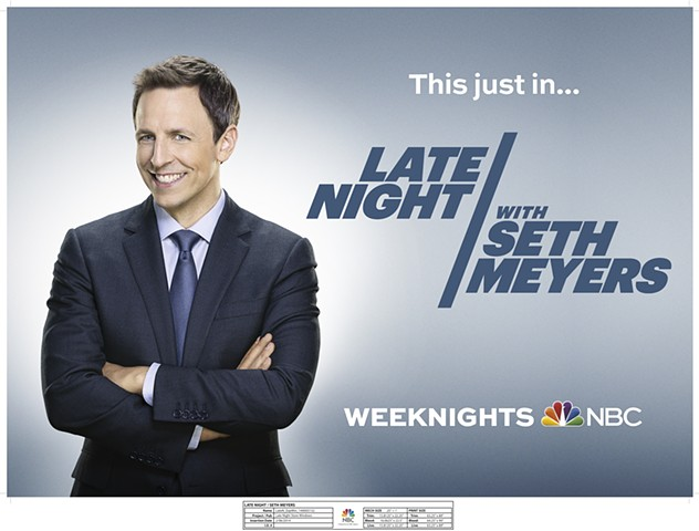 NBCUniversal Late Night Seth Meyers / NY Studio Lobby Window Recreate background. Create final mechanical.