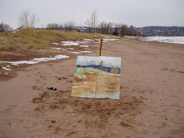 """Beach Dunes"" in progress, early Spring 2008"
