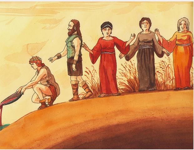 Greek Myths (section of scroll)