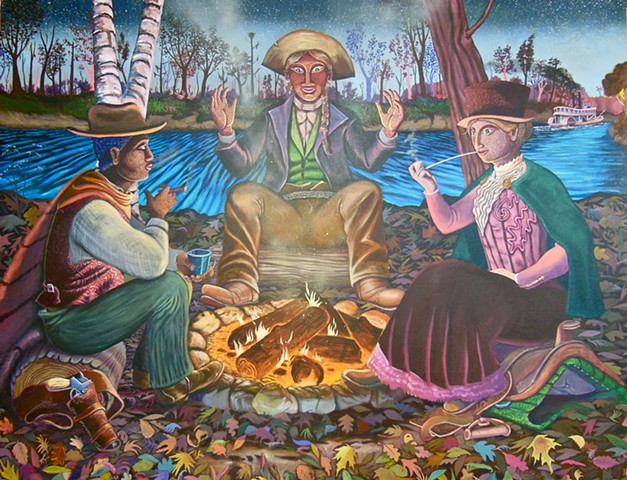 They smoked dank tobacco by the river