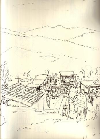 Su montagne con i genti di preci e Padre Clemente, Preci.
