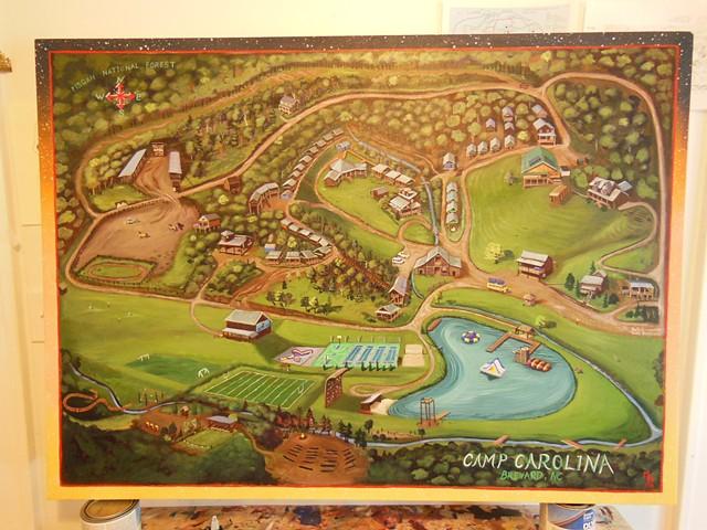Camp Carolina Map