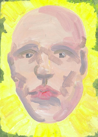 Face on Yellow and Green