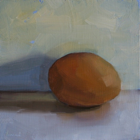 daily painting, still life, egg, organic, earth day