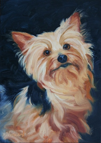 dog portrait, commission, oil painting, terrier,