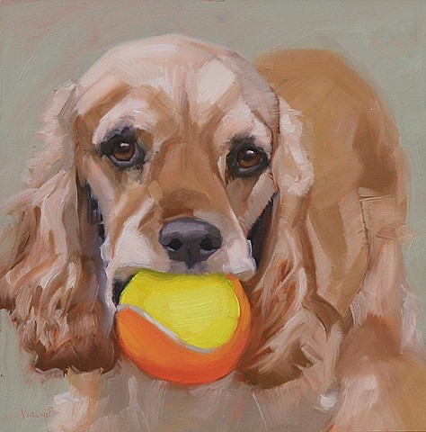 pet portrait commission, patti vincent, oil painting, dog painting
