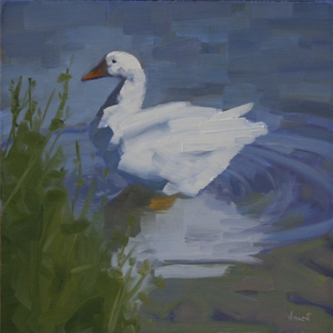 goose, oil painting, daily painting