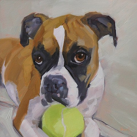 dog painting, pet portrait, commission, patti vincent