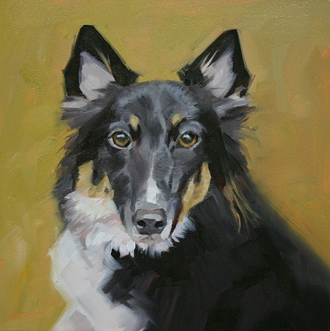 dog portrait, dog painting, dog, pet portrait commission, animal painting, custom pet portrait