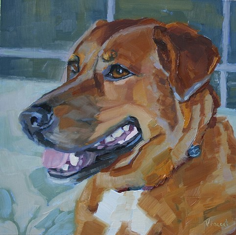 sold, pet portrait commission, dog art, animal art, oil painting