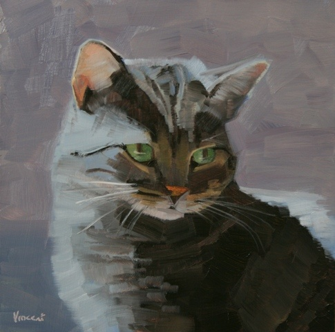 daily painting, oil painting, cat painting, portrait