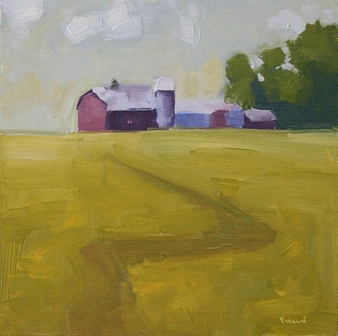 barn painting, barn art, landscape art, oil painting