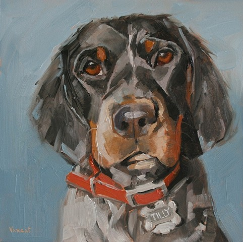 dog, springer spaniel, dog art, dog painting, commission, pet portrait