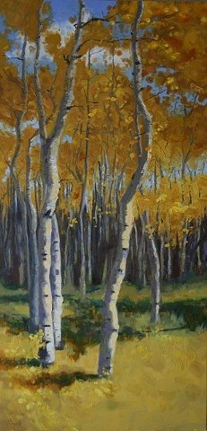 Aspens oil painting
