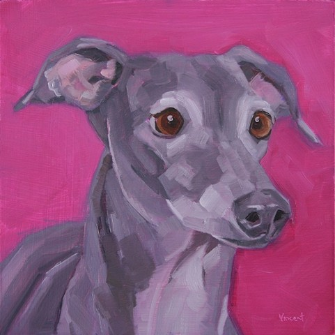 dog painting oil painting patti vincent