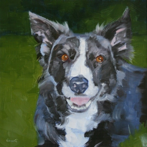pet portrait, dog, oil painting