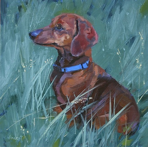 pet portrait commission, dog, colorado, ranch dog, animal art, dog art, oil painting