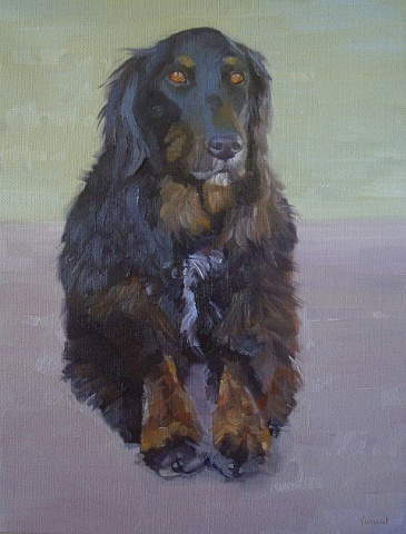 dog portrait commission, oil painting, dog,