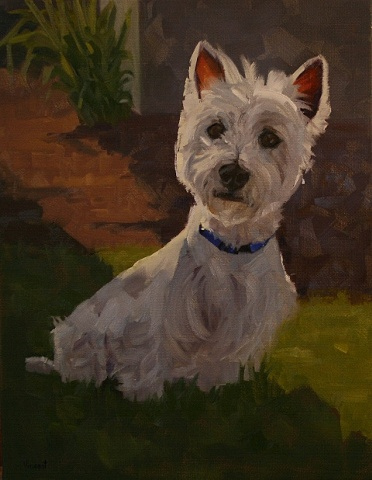 pet portrait, oil painting, dog, commission