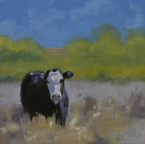 cow painting landscape oil painting framed patti vincent