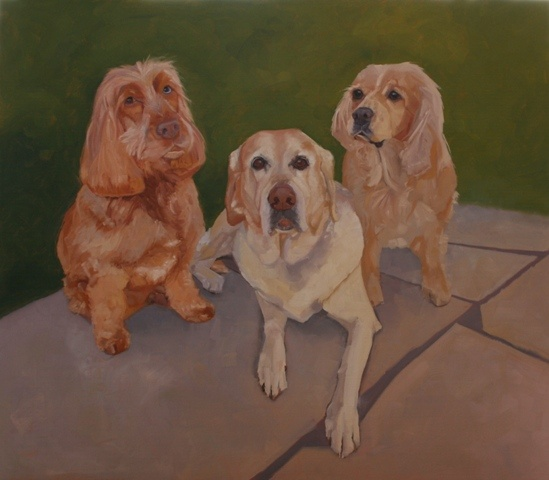 national mill dog rescue, labrador, cocker spaniel, oil painting, pet portrait, commission, dogs